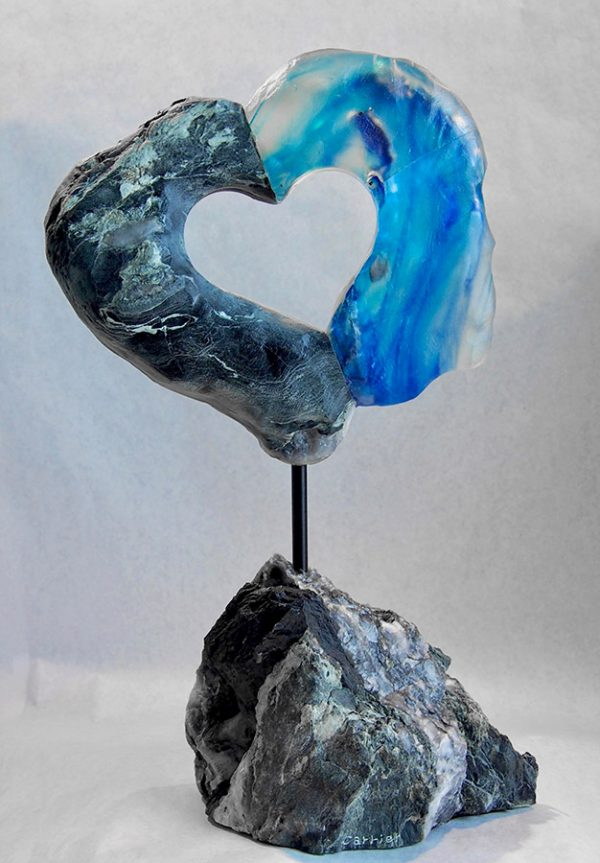 Sculpture Mario Carrier - Cœur à cœur