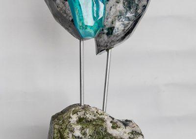 Sculpture Mario Carrier - Cœur de mer