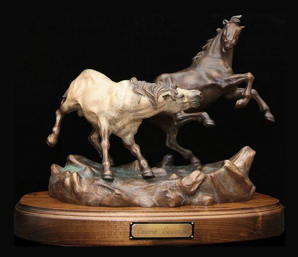 Sculpture Denis Douville - Course sauvage
