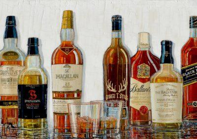 Tableau Nathalie Chiasson - Nobles Whiskies