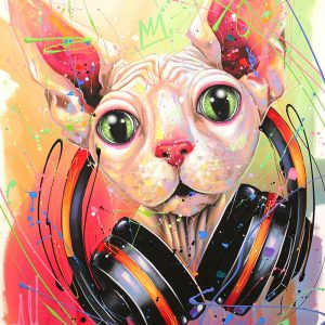 Tableau Andrea Marquis - DJ no hair