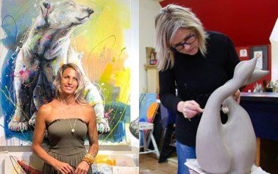 Andréa Marquis – artiste peintre et Julie Lambert – sculpteur