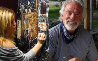 Nathalie Chiasson – artiste peintre et Michel Desmarais – artiste peintre