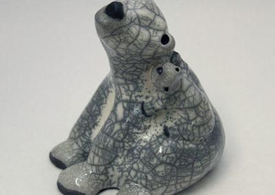 Sculpture Julie Lambert - Gros câlins pour maman