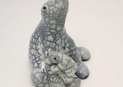 Sculpture Julie Lambert - Maman, à quoi tu rêves