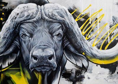 Tableau Sarah Fecteau - Buffalo jaune