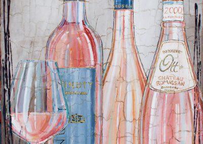 Tableau Nathalie Chiasson - Célèbres rosés