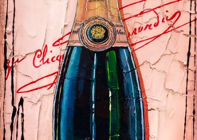 Tableau Nathalie Chiasson - Une soirée bien à Rosé