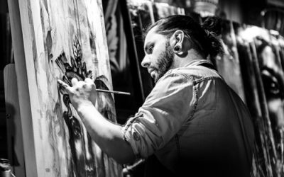 LES VITRINES S'ANIMENT : Artiste peintre Yann Lemieux