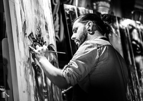 Événement Les vitrines s'animent à la galerie d'Art l'Esprit Créatif avec l'artiste peintre Yann Lemieux