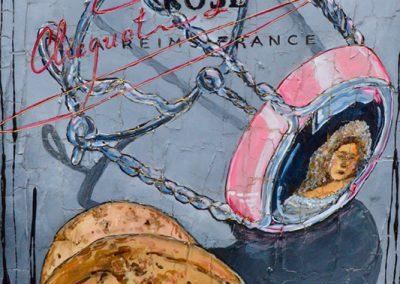 Tableau Nathalie Chiasson - La vie en rosé