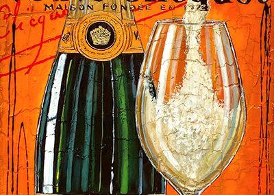 Tableau Nathalie Chiasson - Vivre d'amour et de champagne